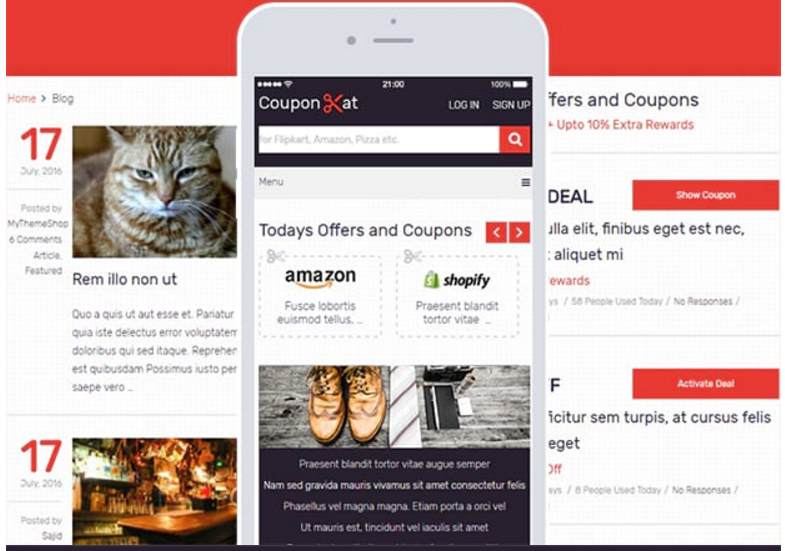 fast loading coupon WordPress theme