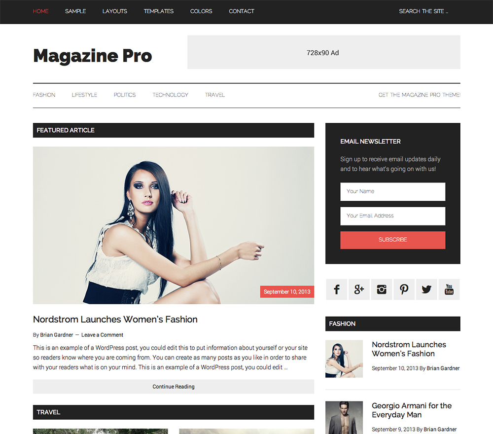 adsense optimized WordPress Template
