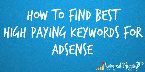 find high paying adsense keywords