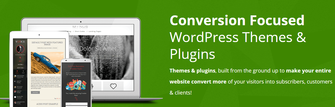 WordPress themes for high conversions
