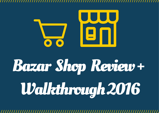 bazar shop theme tutorial and reviews
