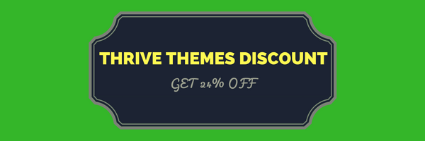 get discount on Thrive Themes