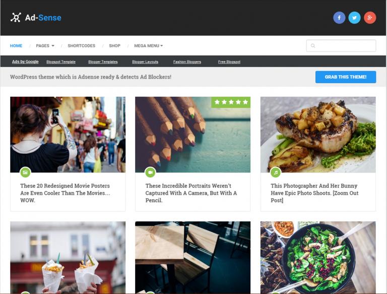best adsense WordPress theme