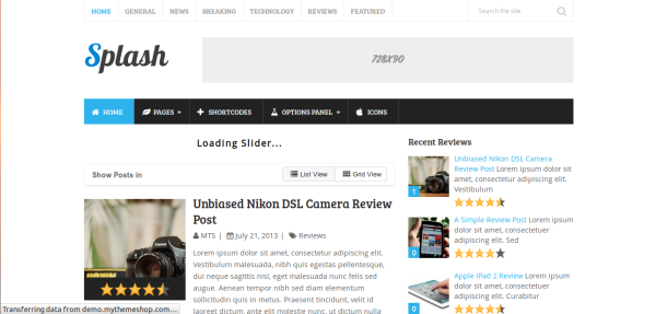 splash WordPress theme for Adsense