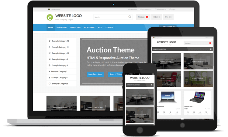 responsive-auction-theme-wordpress