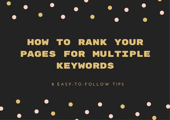 how to rank website for multiple keywords