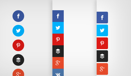 floating social buttons for WordPress
