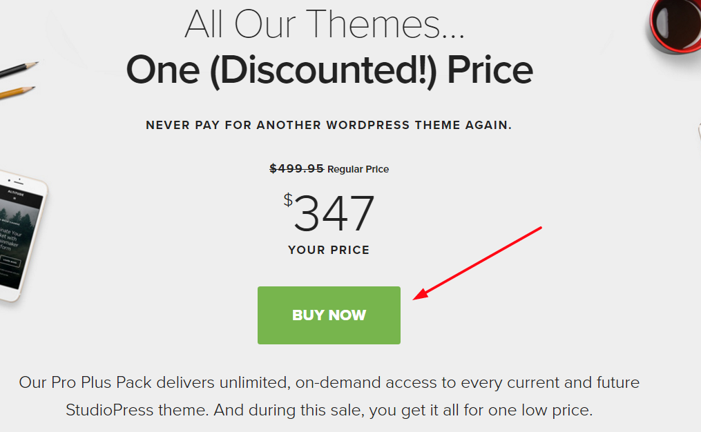 StudioPress Black friday/cyber monday discount