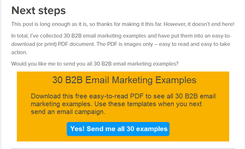Free PDF lead magnet example