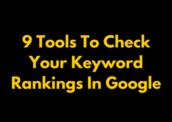 best keyword rank checker tools