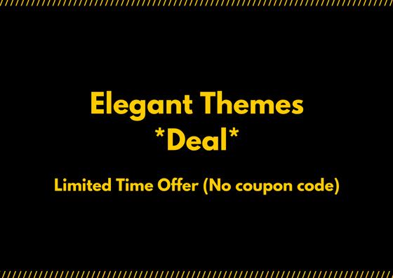 elegant themes discount