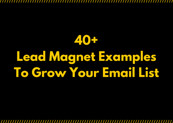 best lead magnet examples to grow your email lists
